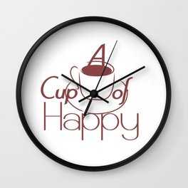 A cup of happy Wall Clock