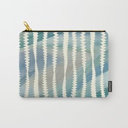 Banksia Leaf Lines in Blue and Butter Carry-All Pouch