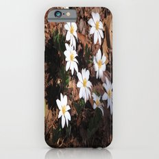 White Flowers Slim Case iPhone 6s