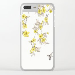 Birds and Cherry blossoms II Clear iPhone Case