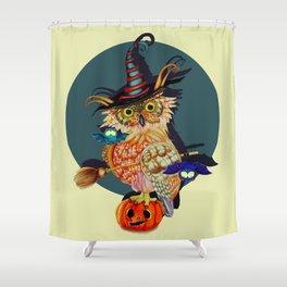 Owl Scary Shower Curtain