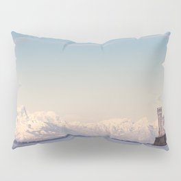 Miramar Castle with Italian Alps in background. Trieste Italy Pillow Sham