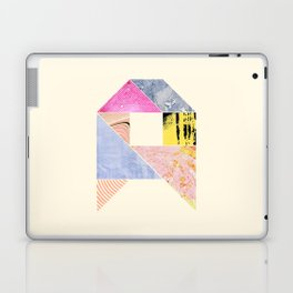 Collaged Tangram Alphabet - A Laptop & iPad Skin