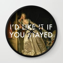 Stay for a Kiss Wall Clock