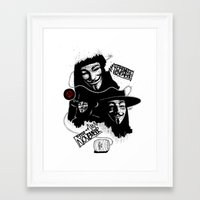 vendetta Framed Art Prints featuring Vendetta by Facey Artist
