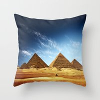 wwe Throw Pillows featuring Egypt by eARTh
