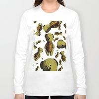 teddy bear Long Sleeve T-shirts featuring Teddy-bear by Кaterina Кalinich