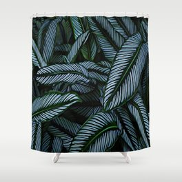 Night Tropic 5 Shower Curtain