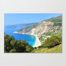 Kefalonia - Myrtos beach Canvas Print