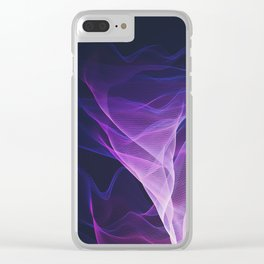 Out of the Blue - Pink, Blue and Ultra Violet Clear iPhone Case