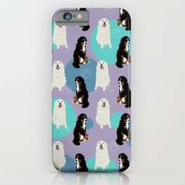 Great Pyrenees and Bernese Mountain Dog  iPhone Case