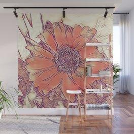Orange Gerber Wall Mural