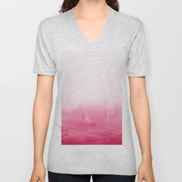 Watercolor Texture Unisex V-Neck