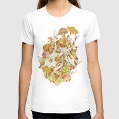 skulls in spring White SMALL Womens Fitted Tee