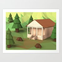 cabin Art Prints featuring Cabin by CharismArt