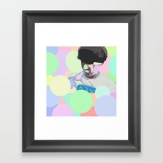 Light Surfing Framed Art Print