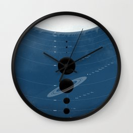 The Worlds (Blue) Wall Clock