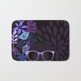 Afro Diva : Sophisticated Lady Purple Lavender Bath Mat