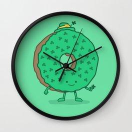The St Patricks Day Donut Wall Clock