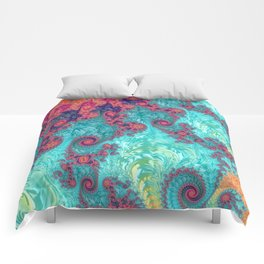 Rainbow Fractal Comforters