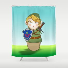 Kokeshi Link  Shower Curtain