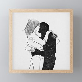 No one could save me but you. Framed Mini Art Print