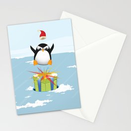 Angry penguin Stationery Cards