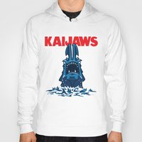 pacific rim Hoodies featuring KaiJaws (Pacific Rim/Jaws) by Tabner's