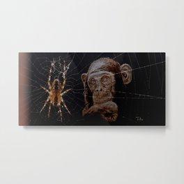 WATCHING THE SPIDER - cversion Metal Print