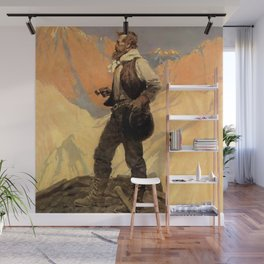 """N C Wyeth Painting """"The Prospector"""" Wall Mural"""
