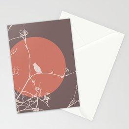 Bird on a branch 2 Stationery Cards