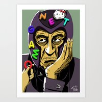 magneto Art Prints featuring Magneto by Nathan Jackson Artist