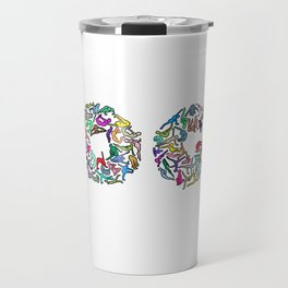 YOGA Figure Poses Travel Mug
