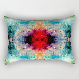 Fukuai - Colorful Abstract Batik Butterfly Ink Blot Mandala Art Rectangular Pillow