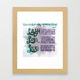Laugh Learn Live Framed Art Print