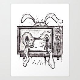 Something on? Art Print