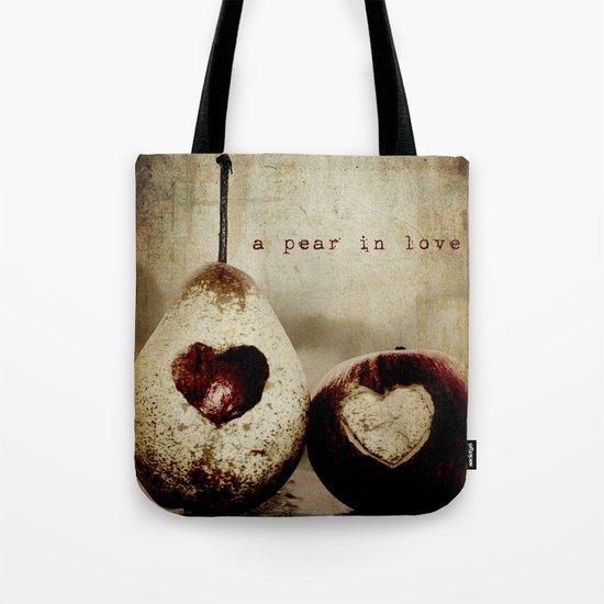 a pear in love Tote Bag