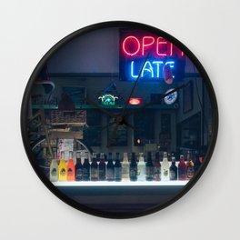 Neon Night Light Wall Clock