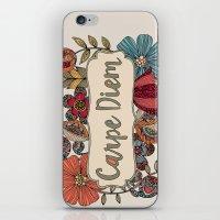carpe iPhone & iPod Skins featuring Carpe Diem by Valentina Harper