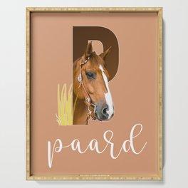 Paard - dierenalfabet Serving Tray