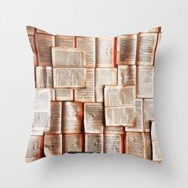 Bookworm Bibliophile Throw Pillow