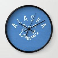 alaska Wall Clocks featuring Alaska by Roland Lefox