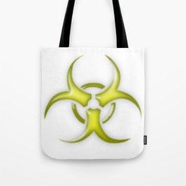 Yellow Biological Hazard Symbol Tote Bag