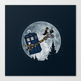 Tardis in the sky Canvas Print