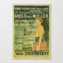 Emile Muller ceramist Paris Canvas Print