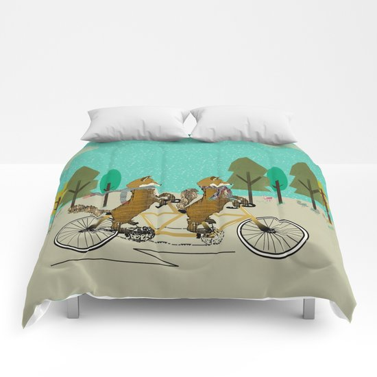 foxy days lets tandem Comforters