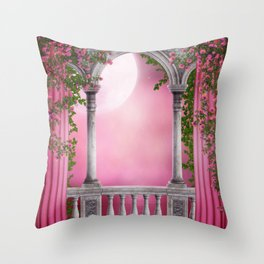 Spring Light Balcony Throw Pillow