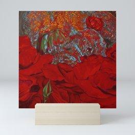 Rhinos Grow, Rhino in Roses Mini Art Print