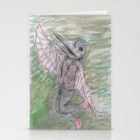 birdman Stationery Cards featuring blackdeath birdman by melissa E