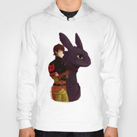 hiccup Hoodies featuring Hiccup and Toothless by tsunami-sand